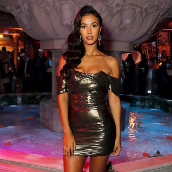 Maya Jama is in tight hot short dress